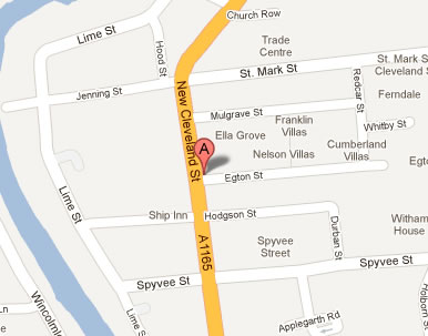Map location for THE 247 Company, 74 New Cleveland Street,